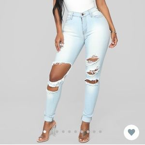 Ripped light wash jeans